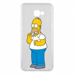 Чехол для Samsung J4 Plus 2018 Гомер что-то затеял - FatLine