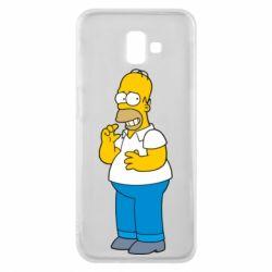 Чехол для Samsung J6 Plus 2018 Гомер что-то затеял - FatLine