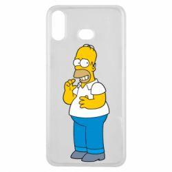 Чехол для Samsung A6s Гомер что-то затеял - FatLine