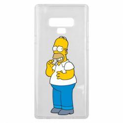 Чехол для Samsung Note 9 Гомер что-то затеял - FatLine