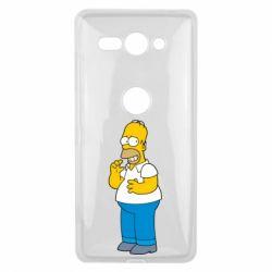 Чехол для Sony Xperia XZ2 Compact Гомер что-то затеял - FatLine
