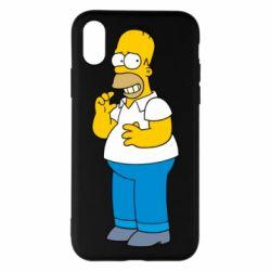 Чехол для iPhone X Гомер что-то затеял - FatLine