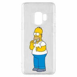 Чехол для Samsung S9 Гомер что-то затеял - FatLine