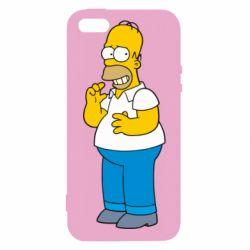 Чехол для iPhone5/5S/SE Гомер что-то затеял - FatLine