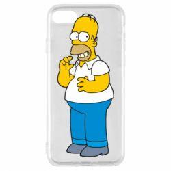 Чехол для iPhone 8 Гомер что-то затеял - FatLine