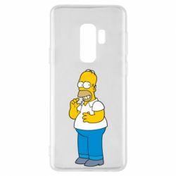 Чехол для Samsung S9+ Гомер что-то затеял - FatLine