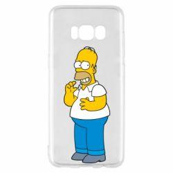 Чехол для Samsung S8 Гомер что-то затеял - FatLine