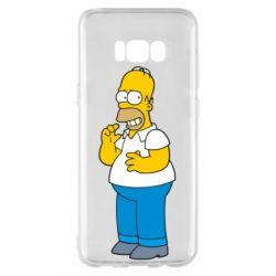 Чехол для Samsung S8+ Гомер что-то затеял - FatLine