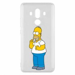 Чехол для Huawei Mate 10 Pro Гомер что-то затеял - FatLine
