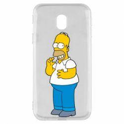 Чехол для Samsung J3 2017 Гомер что-то затеял - FatLine