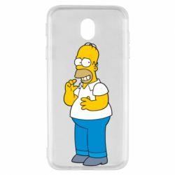 Чехол для Samsung J7 2017 Гомер что-то затеял - FatLine