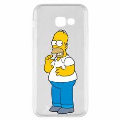 Чехол для Samsung A5 2017 Гомер что-то затеял - FatLine