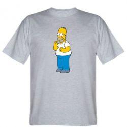 Мужская футболка Гомер что-то затеял - FatLine