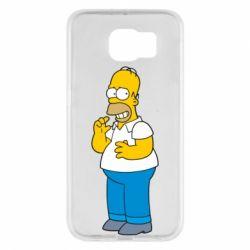 Чехол для Samsung S6 Гомер что-то затеял - FatLine