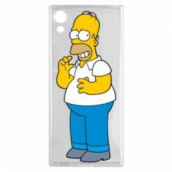 Чехол для Sony Xperia XA1 Гомер что-то затеял - FatLine