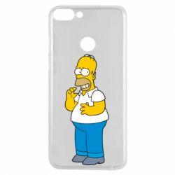 Чехол для Huawei P Smart Гомер что-то затеял - FatLine