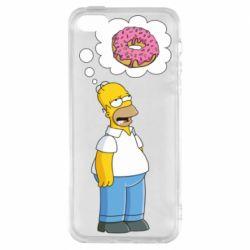 Купить Любителям еды, Чехол для iPhone5/5S/SE Гомер думает о пончике, FatLine