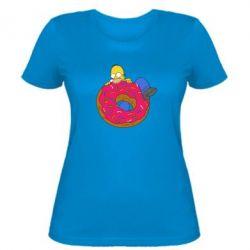 Женская футболка Гомер и Пончик - FatLine