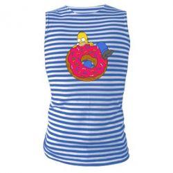 Майка-тельняшка Гомер и Пончик - FatLine