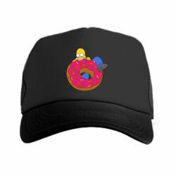 Кепка-тракер Гомер и Пончик - FatLine