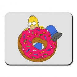 Коврик для мыши Гомер и Пончик