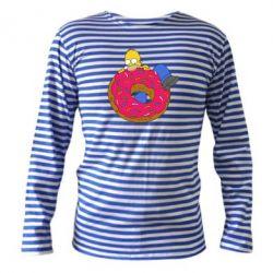 Тельняшка с длинным рукавом Гомер и Пончик - FatLine
