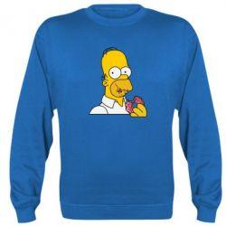 Реглан (свитшот) Гомер любит пончики
