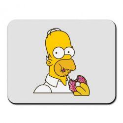 Коврик для мыши Гомер любит пончики