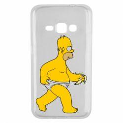 Чехол для Samsung J1 2016 Гомер Симпсон в трусиках