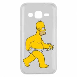 Чехол для Samsung J2 2015 Гомер Симпсон в трусиках