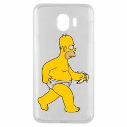 Чехол для Samsung J4 Гомер Симпсон в трусиках