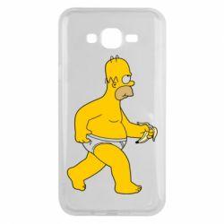 Чехол для Samsung J7 2015 Гомер Симпсон в трусиках