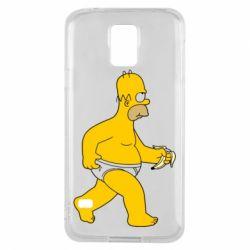 Чехол для Samsung S5 Гомер Симпсон в трусиках