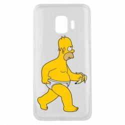 Чехол для Samsung J2 Core Гомер Симпсон в трусиках