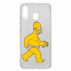 Чехол для Samsung A20 Гомер Симпсон в трусиках