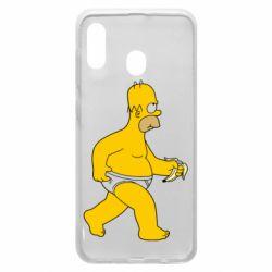 Чехол для Samsung A30 Гомер Симпсон в трусиках