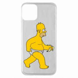 Чехол для iPhone 11 Гомер Симпсон в трусиках