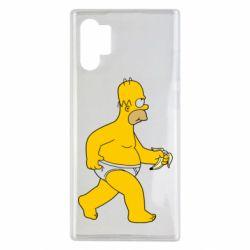 Чехол для Samsung Note 10 Plus Гомер Симпсон в трусиках