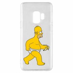 Чехол для Samsung S9 Гомер Симпсон в трусиках