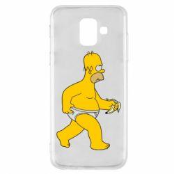 Чехол для Samsung A6 2018 Гомер Симпсон в трусиках