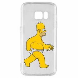 Чехол для Samsung S7 Гомер Симпсон в трусиках