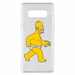 Чехол для Samsung Note 8 Гомер Симпсон в трусиках
