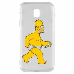 Чехол для Samsung J3 2017 Гомер Симпсон в трусиках