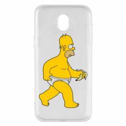 Чехол для Samsung J5 2017 Гомер Симпсон в трусиках