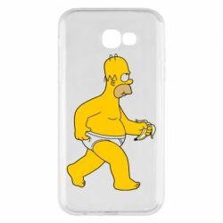 Чехол для Samsung A7 2017 Гомер Симпсон в трусиках