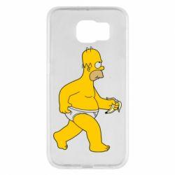 Чехол для Samsung S6 Гомер Симпсон в трусиках