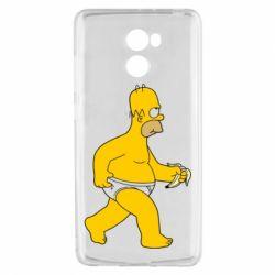 Чехол для Xiaomi Redmi 4 Гомер Симпсон в трусиках