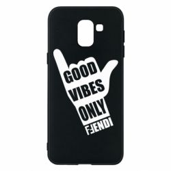 Чохол для Samsung J6 Good vibes only Fendi