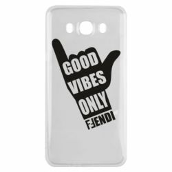 Чехол для Samsung J7 2016 Good vibes only Fendi