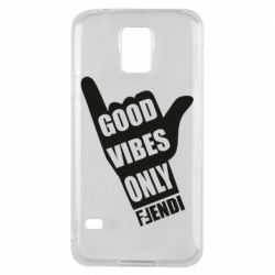 Чохол для Samsung S5 Good vibes only Fendi